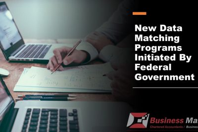 New data matching programs initiated by Federal Government